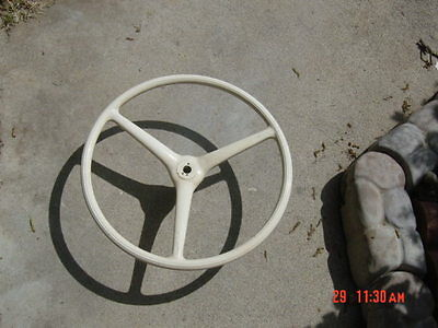 Antique / Rare Old Wooden Boat Steering Wheel