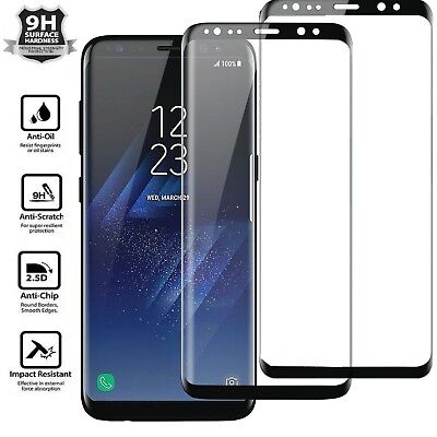 2x Samsung Galaxy S8 PLUS /Note 8 Screen Protector Tempered Glass Curved Glass E