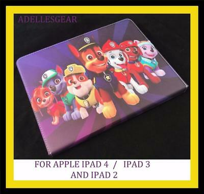 Paw Patrol  Apple Ipad 4 , 3 Or 2 Cover/case Paw Patrol Purple Red  Design 2