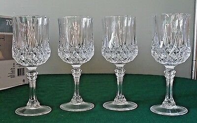 """Cristal D'Arques LONGCHAMP Water Goblets   24% Lead Crystal   7 1/4"""" tall"""