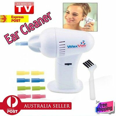 LED Electric Ear Wax Remover Vac Vacume Cleaner Painless Cordless Safety AU