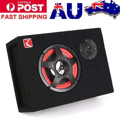 6'' 350W Under-Seat Car Active Subwoofer Speaker Bass Audio Power Amp Sub Woofer