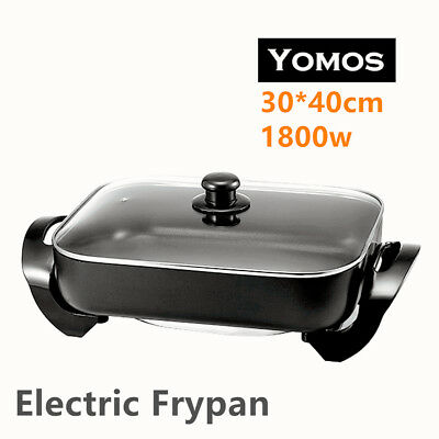 40cm Non-Stick Electric Banquet Frypan Adjustable Temperature Control 30x40 Pan