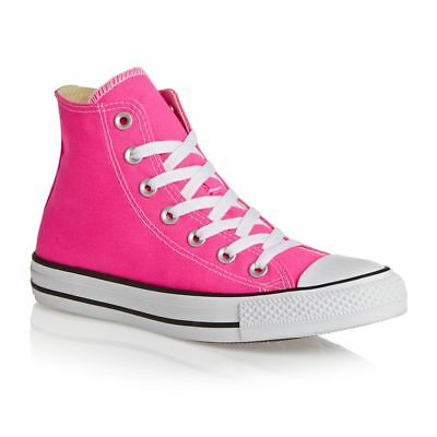Converse Trainers - Converse Unisex Chuck Taylor All Star Hi Shoes - Pink Pow