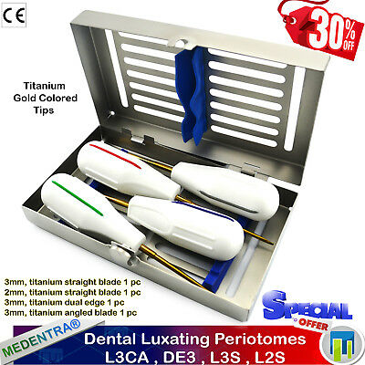 Luxating Periotomes KIT Periodontal Ligament Knives Root Surgery Elevators+Tray