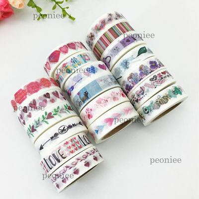 Love Valentine Washi Paper Masking Tape DIY Craft Scrapbook Gift Wrap Home Decor