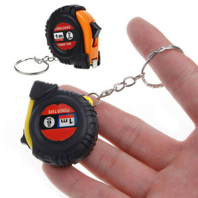 """1pc Retractable Metric/ Feet/ Inches Measuring Tape Measure Tool 1m/3.28Ft/39"""""""