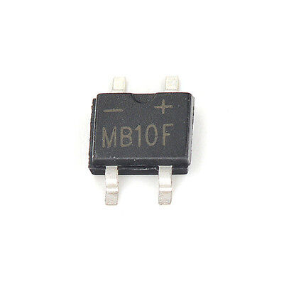 100PCS MB10F 1A 1000V SOP-4 SMD Bridge Rectifier