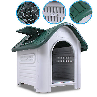 Medium Weather Proof Plastic Outdoor Garden Pet Dog Puppy House Kennel Shelter
