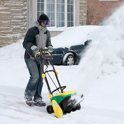 Outsunny 16 inch 9-Amp Electric Powered Snow Thrower Yard Power Shovel w/ Wheels