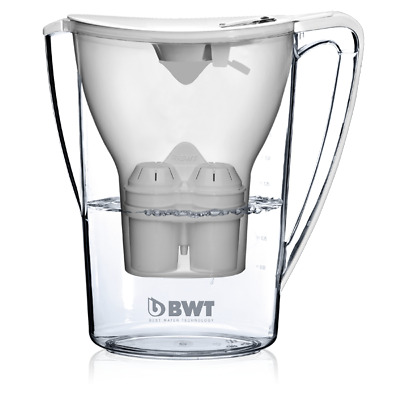 BWT Vida Water Filter Jug, White 2.6 Litre with 1 x Mg2+ Longlife 120L Cartridge