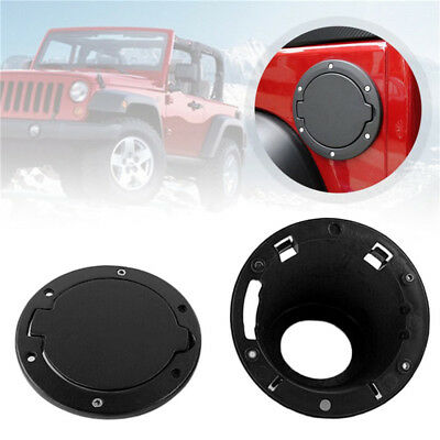 Fuel Filler Door Cover Gas Tank Cap for Wrangler Jeep JK Unlimited 2/4 Door ABS