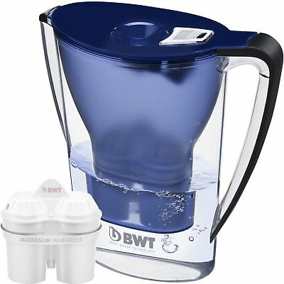 BWT Water Filter Jug 2.7L Blue and 1 Magnesium Mg2+ Longlife 120L Cartridge