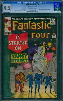 Fantastic Four # 29  It Started on Yancy Street !  CGC 9.2 scarce book !