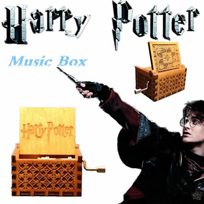Funny Toy Harry Potter Engraved Wooden Music Box Interesting Toys Kid Xmas Gifts