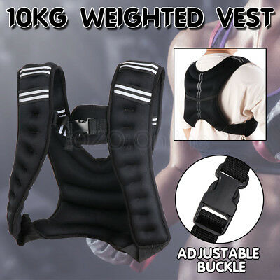 10KG Adjustable Workout Weight Weighted Vest Exercise Gym Training MMA Sports