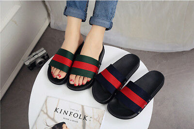 Fashion Women Slippers Flip Flops Flat Sandals Beach Colorful Shoes US Size 5-9