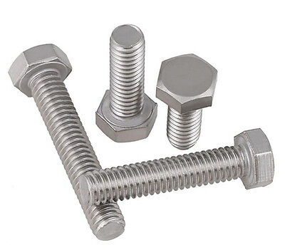 304 Stainless steel Hex Cap Head Bolts screws 1/4-20 BSW UNC