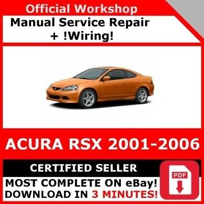 factory workshop service repair manual acura rsx 2001 2006 wiring rh picclick co uk Haynes Manual Pictures Back Haynes Manual for Quads