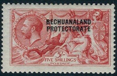 BECHUANALAND-1914 5/- Rose Carmine.  A lightly mounted mint example Sg 84