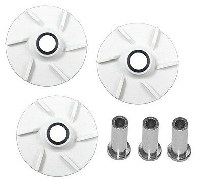 Crathco 3 Pack Impeller & Bearing Sleeve Replaces Crathco 3587 & Crathco 3220
