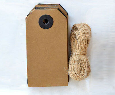 Handcrafted Kraft And Black Gift Tag & Jute String