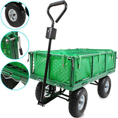 WATERPROOF GARDEN CAMPING FESTIVAL 200kg DIY HAND TRUCK TROLLEY WHEELBARROW CART