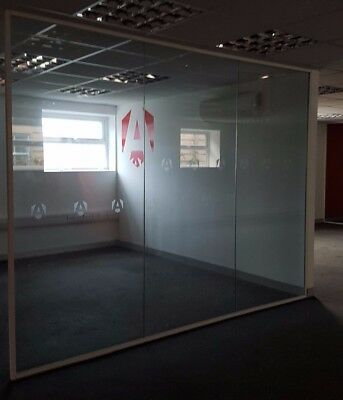 3 METRE WIDE TOUGHENED GLASS PARTITION SYSTEM - Used but in good condition