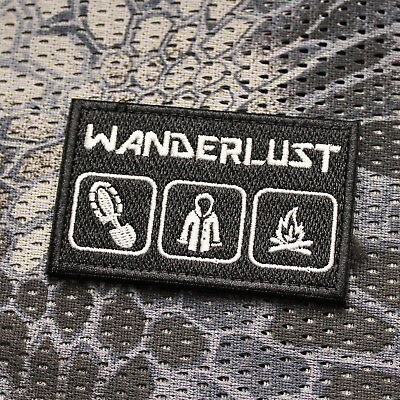 Ursuz Wanderlust Bushcraft Patch Aufnäher Everyday Carry Airsoft Paintball EDC