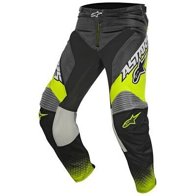 Alpinestars Racer Supermatic Cross Hose grau neongelb 32 (EU 48) Motocross MX