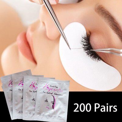 50/100/200Pair Under Eye Curve Eyelash Extension Pads Gel Patch Lint Free Beauty