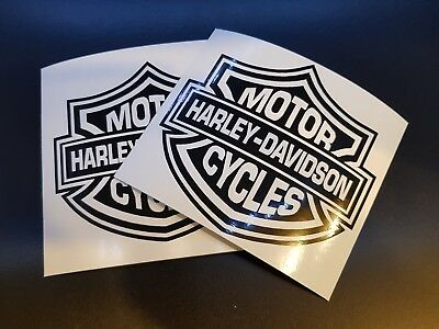 2 x Harley Davidson Motorbike Motor Cycles Car Decal Vinyl Sticker For Bumper