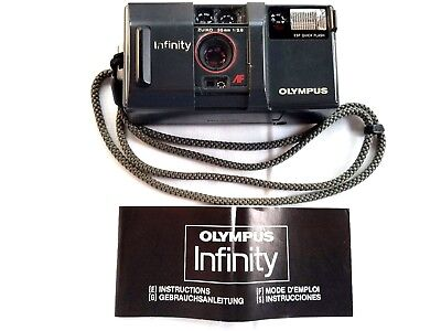 VINTAGE Olympus Infinity Zuiko 35mm 1:2.8 Point & Shoot Film Camera, Instruction