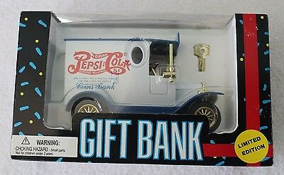 Vintage Limited Edition Pepsi Cola Die Cast Truck Gift Bank 1993