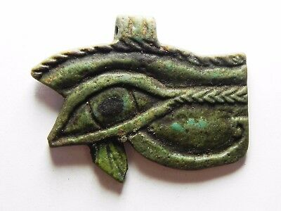 ZURQIEH -asw171- ANCIENT EGYPT , STUNNING COLOR. LARGE EYE OF HORUS AMULET