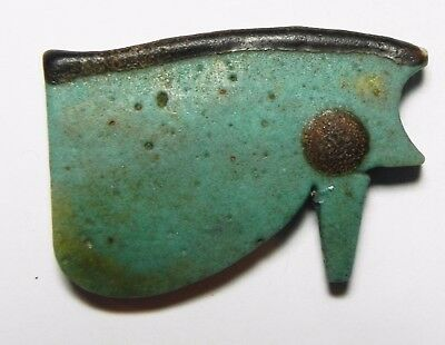 ZURQIEH -asw174- ANCIENT EGYPT , STUNNING COLOR. LARGE EYE OF HORUS AMULET