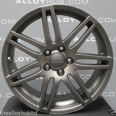 "Genuine Audi A3 8P Black Edition S-Line Grey 18""inch Single/spare Alloy Wheel X1"