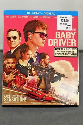 Baby Driver Blu-ray + Digital Ansel Elgort Kevin Spacey Lily James BRAND NEW