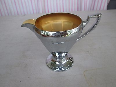 Manning Bowman Vintage Art Deco Stainless Steel Creamer