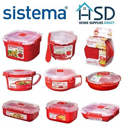Sistema Microwave Lunch Box Container Hot Food Bowl Porridge Plastic Mug Klip It