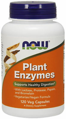 NOW Foods Plant Enzymes  - 120 capsules HEALTHY DIGESTION, GUT HEALTH