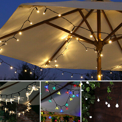 5m Battery Power LED Outdoor Fairy Lights | Garden Christmas Berry Blossom Star