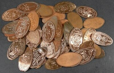 50 Different Elongated U.s. Cents!