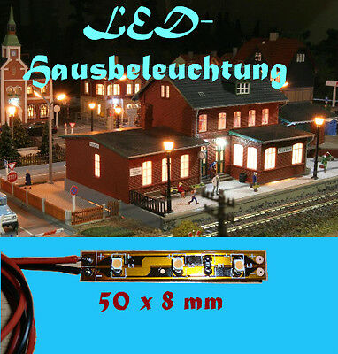 10x led modellbau hausbeleuchtung 20cm kabel 3leds 2 5cm 12v kalt wei 6000k eur 7 90. Black Bedroom Furniture Sets. Home Design Ideas
