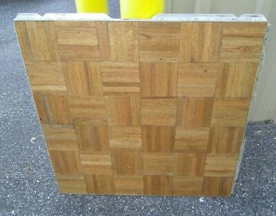 20 Panels Of Portable Wood Dance Floor With Edges Cam Lock