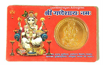 Shri Ganapati Pocket Yantra Yantram God Of Good Luck & Prosperity Energized