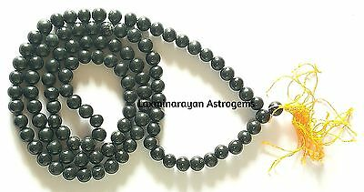 Black Agate Hakik Japa Mala 7Mm Beads / Protection From Bad Evils / Energized