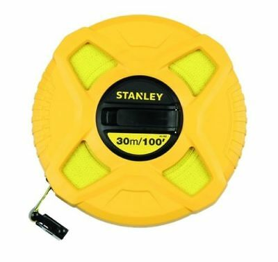 Stanley Closed Case Fibreglass Tape 30m / 100ft - Long Tape
