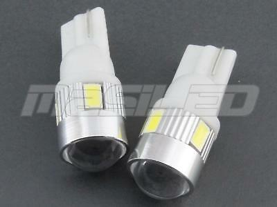 2 bombillas LED T10 W5W 4 SMD 5630 5W CREE color blanco puro 5000K