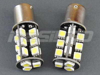 2 bombillas LED Canbus BA15S P21W 27 SMD 5050 color blanco puro 5000K